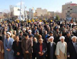 گزارش تصویری از اجتماع بزرگ مردم زرین شهر همزمان با دهمین سالگرد حماسه نهم دی ماه